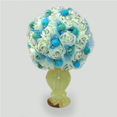 Цветы из бирюзы Бирюзовый букет