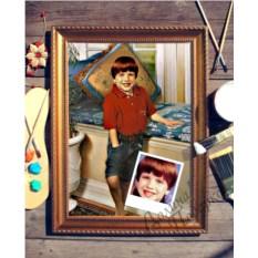 Портрет по фото Любимец семьи