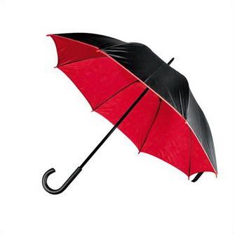 Механический зонт-трость с изогнутой ручкой