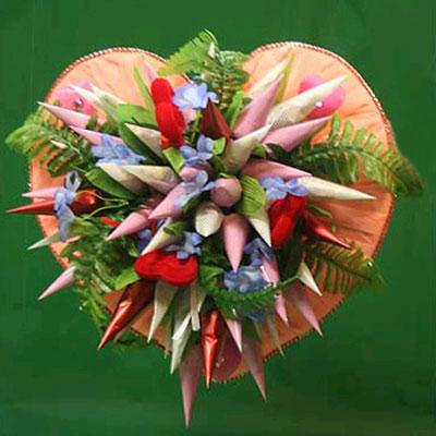 Букет из конфет «Валентинов День»