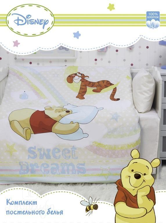 Постельное белье для малышей Винни На Радуге Disney