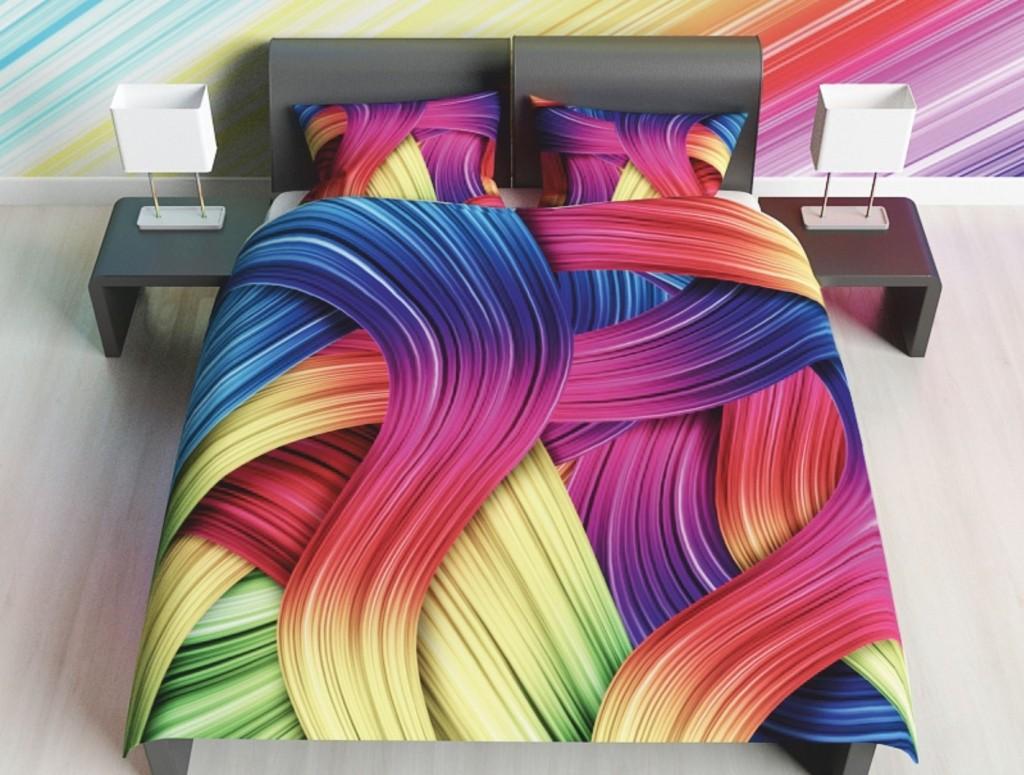Комплект постельного белья Цветные локоны