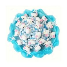 Букет из мягких игрушек Котята (21 шт., цвет — голубой)