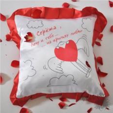 Именная подушка На крыльях любви