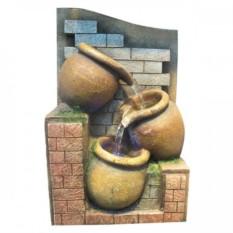 Настольный декоративный фонтан Три кувшина с подсветкой