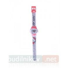 Наручные детские часы Hello Kitty, красные