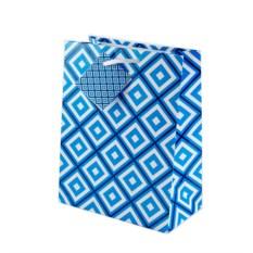 Бумажный ламинированный пакет (цвет — сине-голубой)