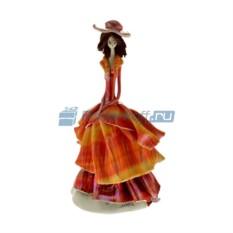 Статуэтка из фарфора Дама в оранжевом платье