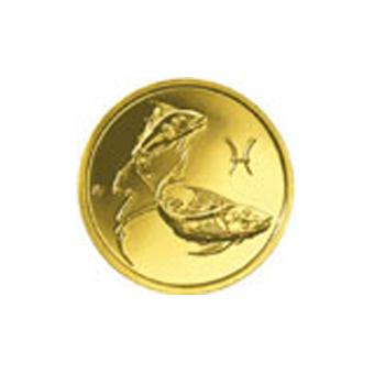 Монета «Рыбы», 50 рублей, Золото