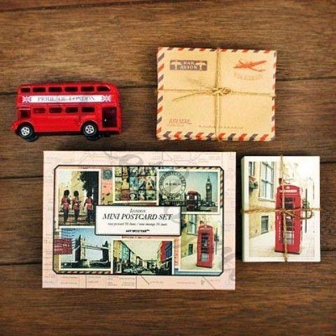 Набор мини-открыток с конвертами London