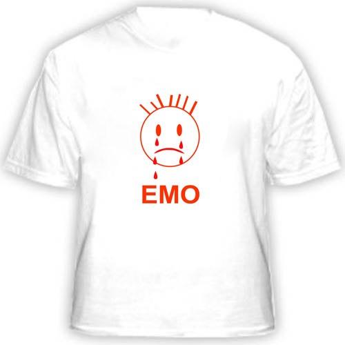 Прикольная футболка ЕМО
