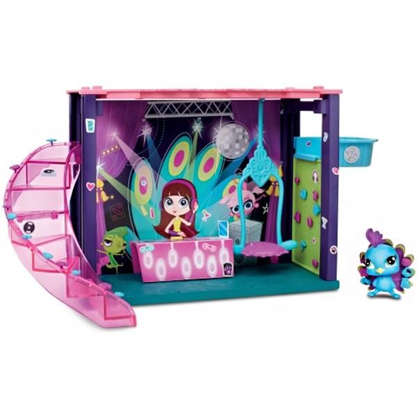Мини-игровой набор Hasbro Littlest Pet Shop DJ Блайс