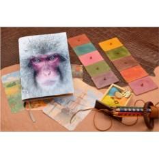 Белый кожаный ежедневник Взгляд снежной обезьяны
