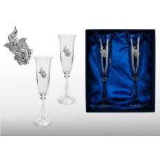 Бокалы для шампанского Прямо в сердце