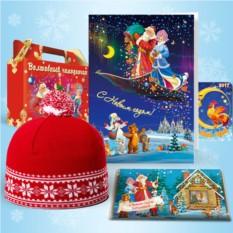 Набор с красной шапкой «Зимние узоры»