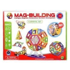 58 деталей магнитного конструктора Mag-Building