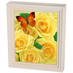 Настенная ключница Жёлтые розы