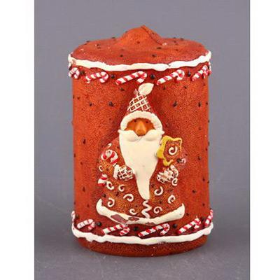 Свеча «Пряничный дед мороз»