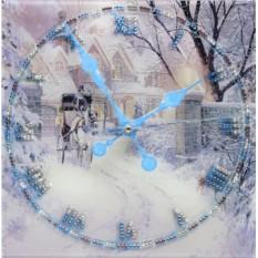 Часы с кристаллами Swarovski Зимняя дорога