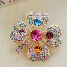 Брошь с австрийскими кристаллами Весна
