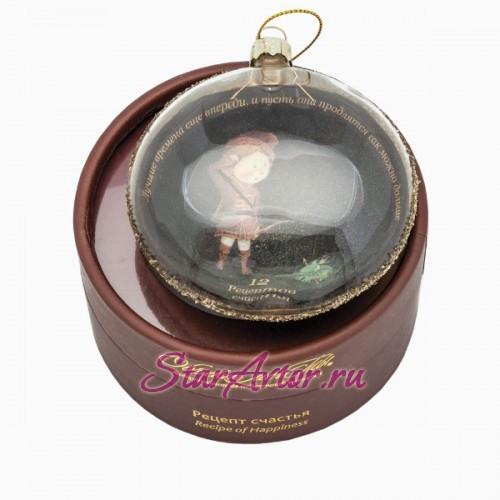 Новогодний дизайнерский ёлочный шар для Стрельцов