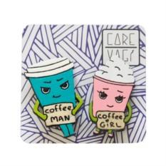 Брошь Coffee Day, набор 2 шт.