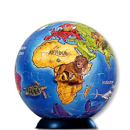 Шаровый пазл «Глобус для детей»