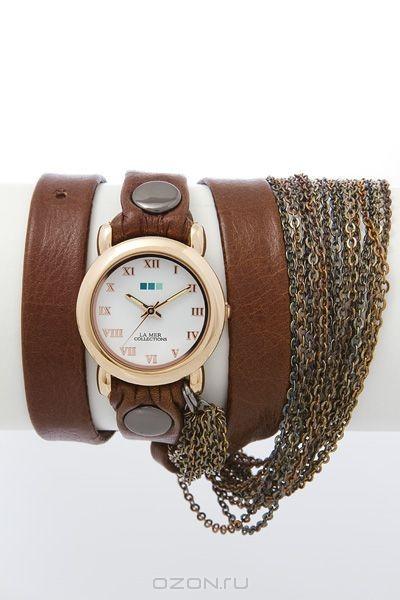 Часы наручные женские La Mer Chain Prague Brown.
