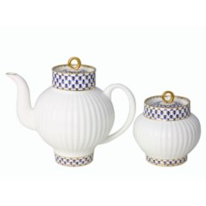 Чайный сервиз Кобальтовая сетка (20 предметов, 6 персон)