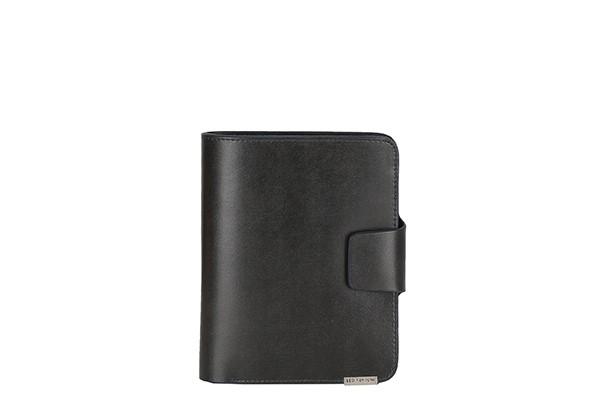 Серый мужской кошелёк Leo Ventoni из натуральной кожи