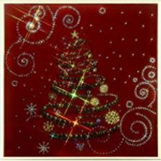 Картина Swarovski «Новогодний винтаж»