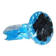 Мужской букет из носков в бирюзовой упаковке