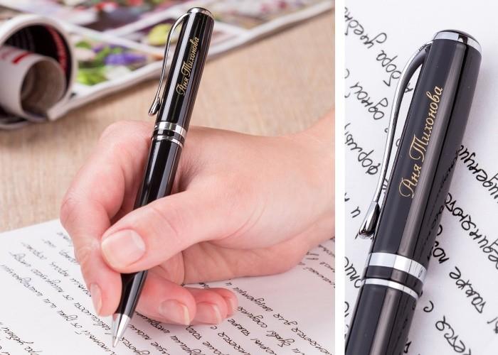 Шариковая ручка Эврика (с серебристыми элементами)
