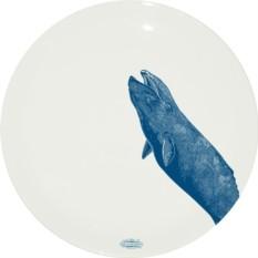 Тарелка из костяного фарфора Серый кит