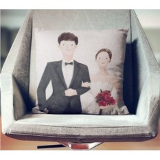 Декоративная наволочка Ах, эта свадьба