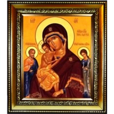 Икона Божьей Матери Трех Радостей на холсте