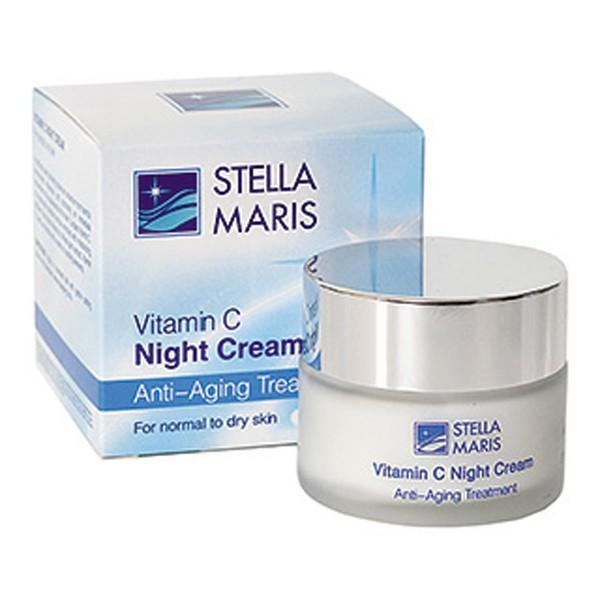 Ночной крем для кожи лица с витамином С Stella Maris