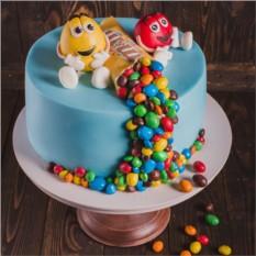 Именной торт M&M's