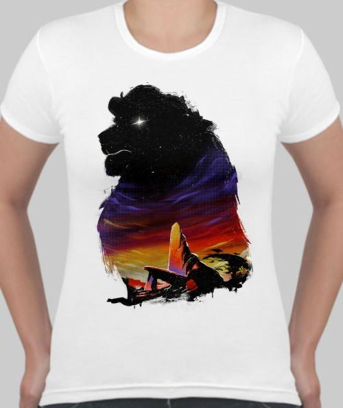 Женская футболка Лев - царь