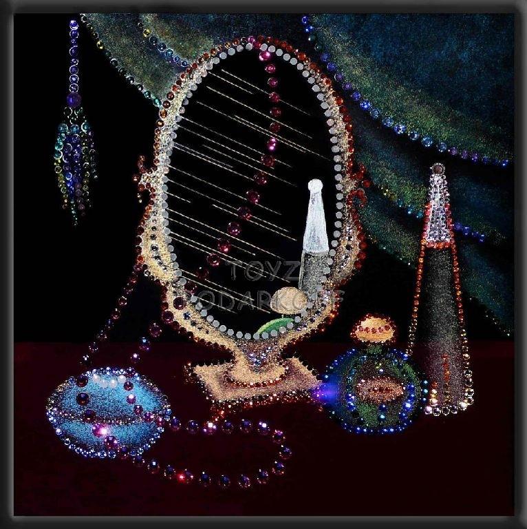 Картина из кристаллов Натюрморт с зеркалом