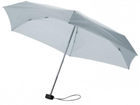 Серый складной механический зонт в футляре
