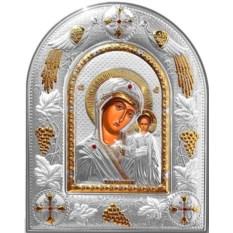Казанская икона Божьей Матери в серебряном окладе в подарок