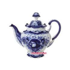 Чайник Гжель заварочный керамический Семейный №2