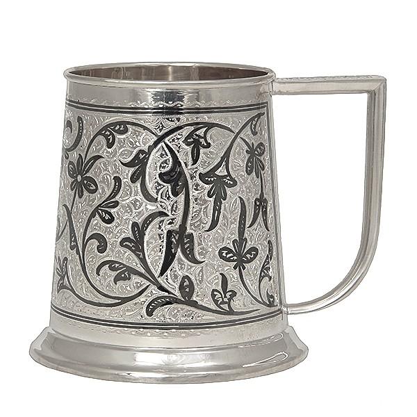 Кружка пивная из серебра