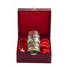 Красный набор для чая Герб России
