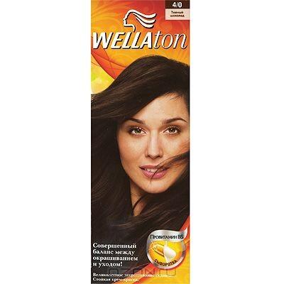 Крем-краска для волос Wellaton 4/0. Темный шоколад