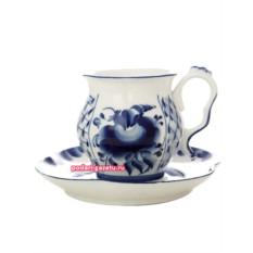 Чайная пара Гжель. Роспись Голубая рапсодия