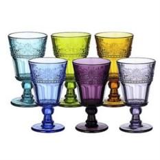 Набор из 6 бокалов из цветного стекла Rosee