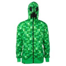 Зеленая толстовка Крипер с капюшоном Майнкрафт