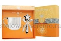 Серебряный набор для малышей Звезда (кружка, погремушка)
